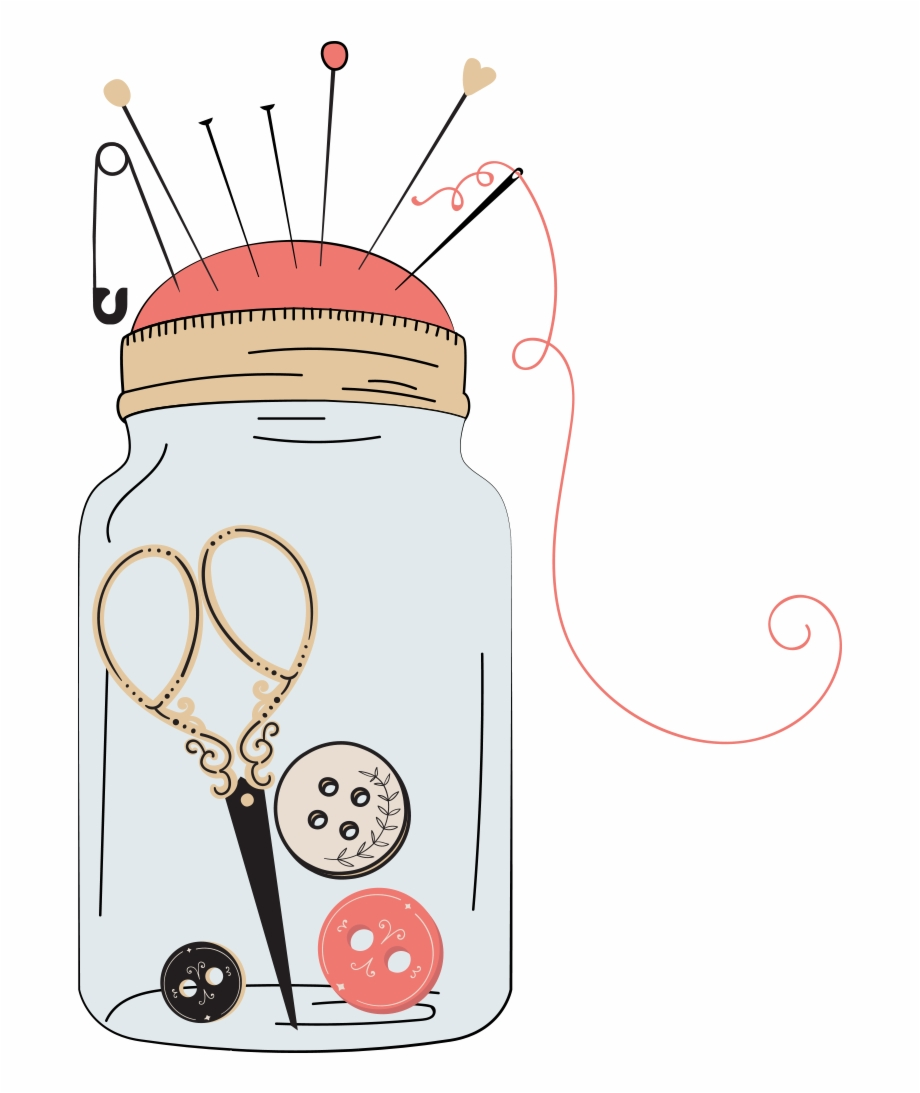 Sewing Clipart Button Needle.