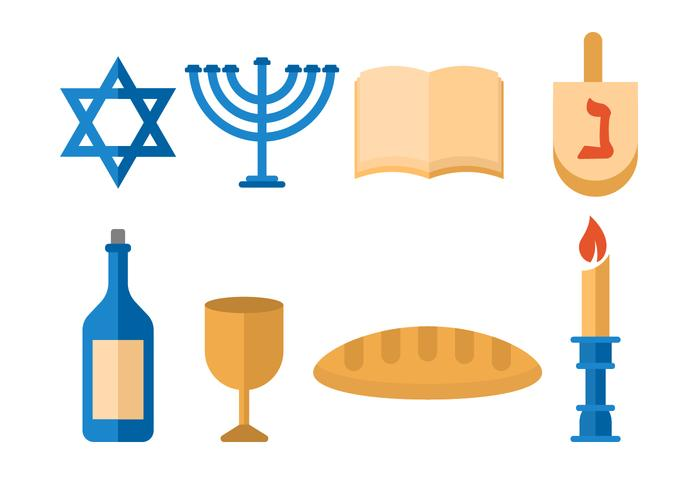 Free Shabbat Jewish Vector.