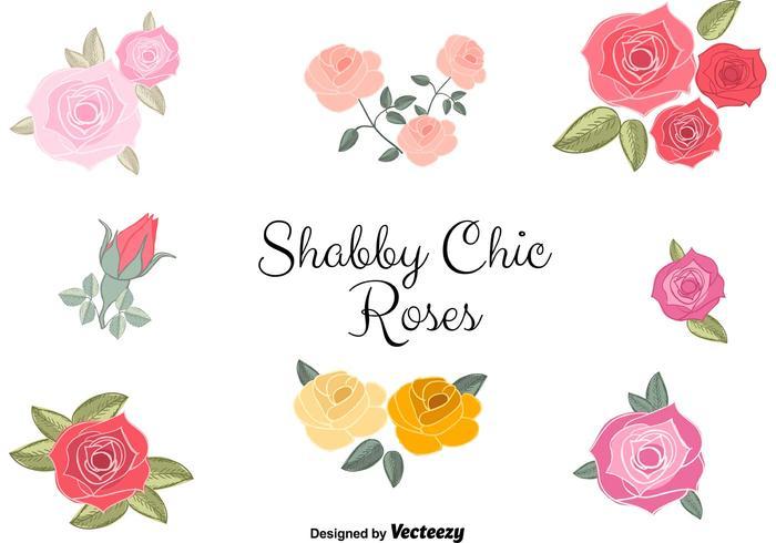 Vector Shabby Chic Roses.