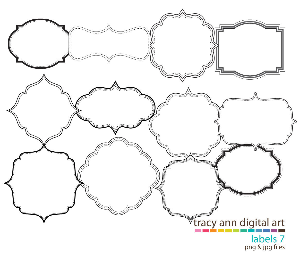 4595 Shapes free clipart.
