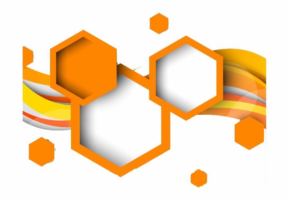 Orange Hexagon Png.