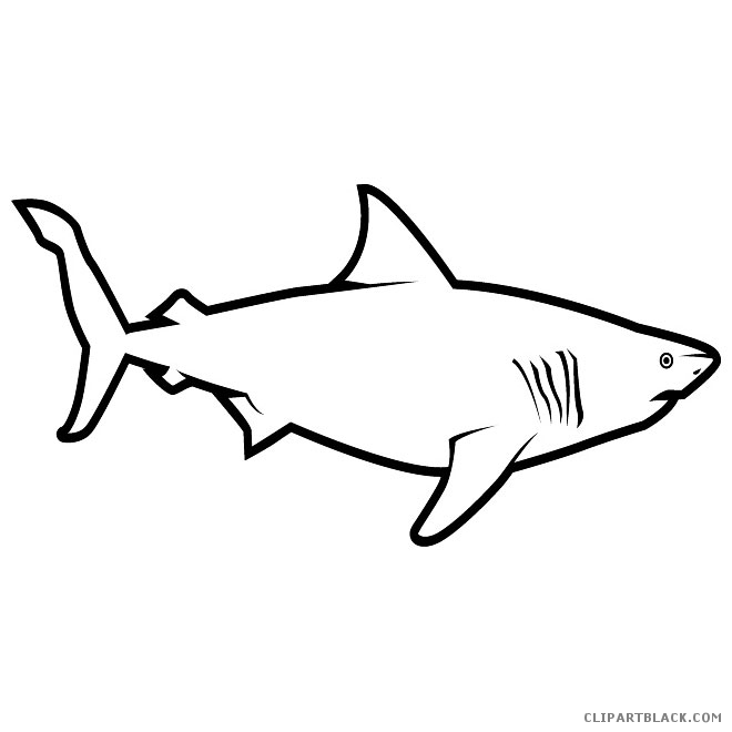 Free shark clipart black and white 3 » Clipart Station.