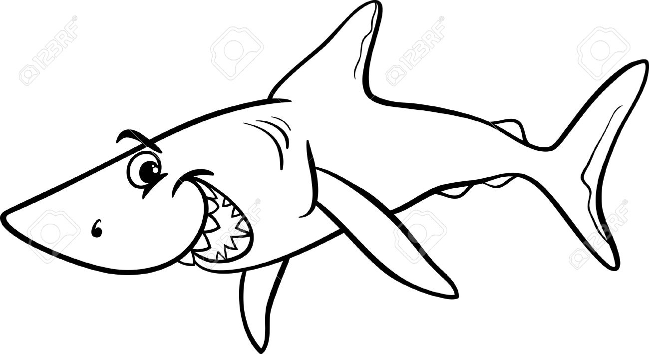 Shark Clipart Black And White.