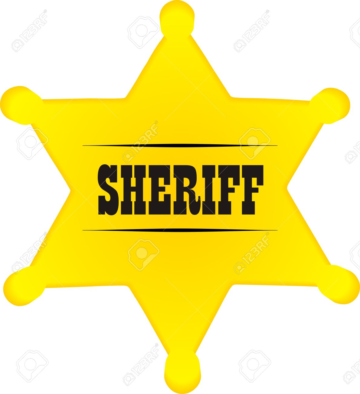 Sheriff badge.