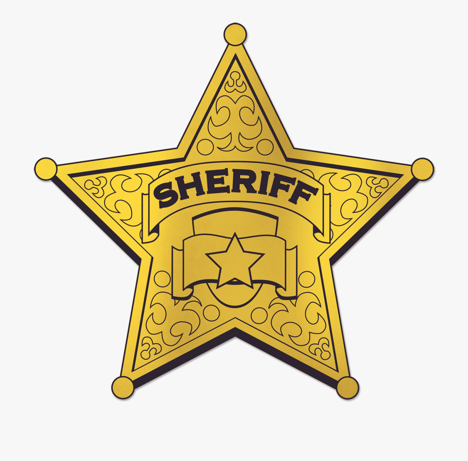 Printable Sheriff Badge Clipart , Transparent Cartoon, Free.