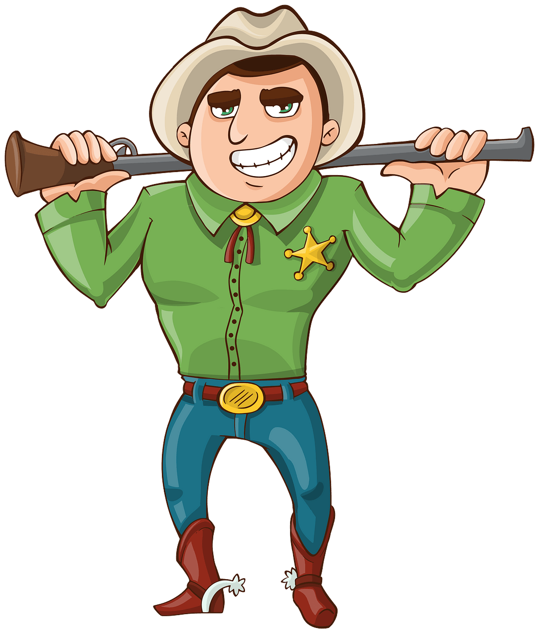 Cowboy Sheriff clipart. Free download..