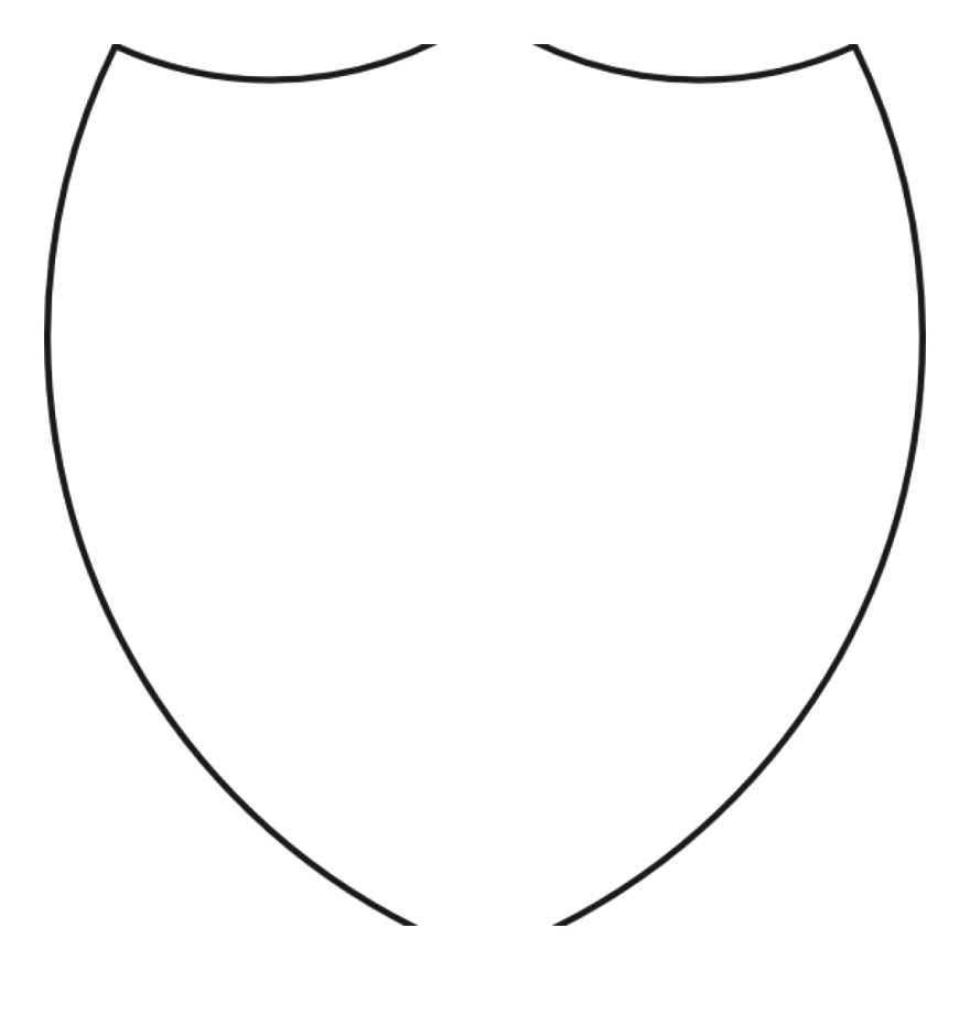 Free Shield Clipart Template Outline Of Coat In.
