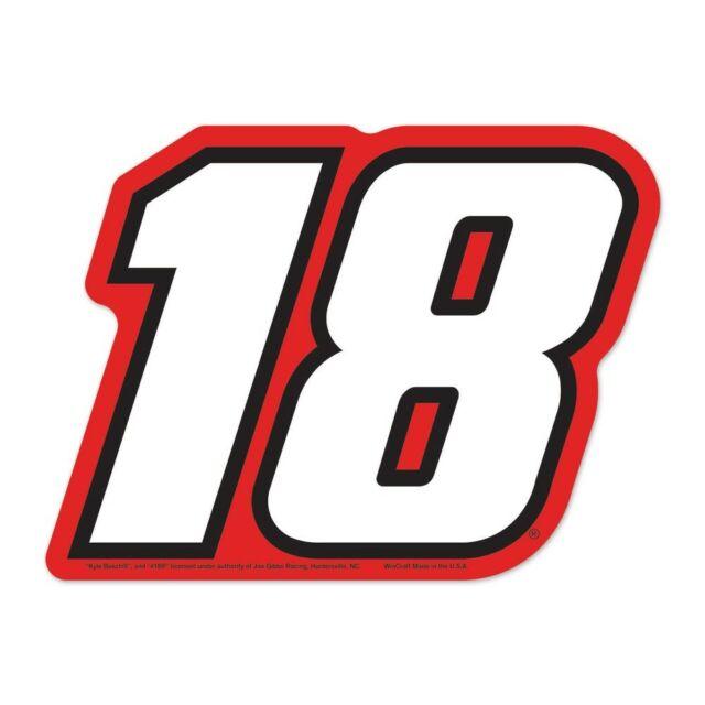 Kyle Busch Wincraft #18 Logo on the GOGO FREE SHIP!.