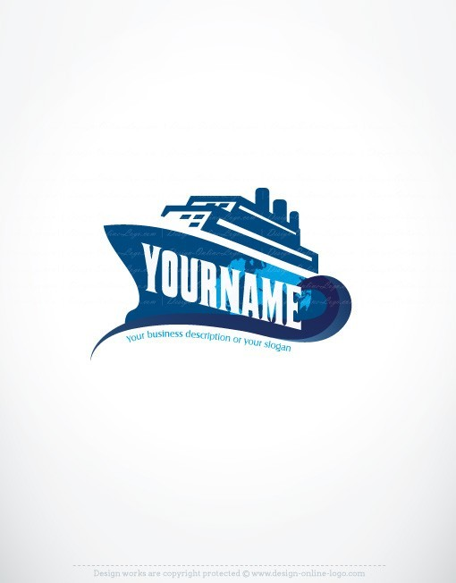 Exclusive Design: Ship logo + Compatible FREE Business Card.