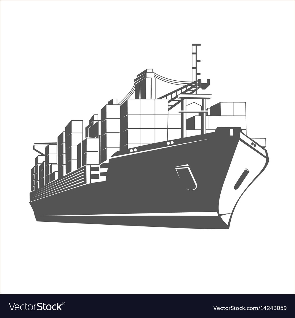 Ship logo template.