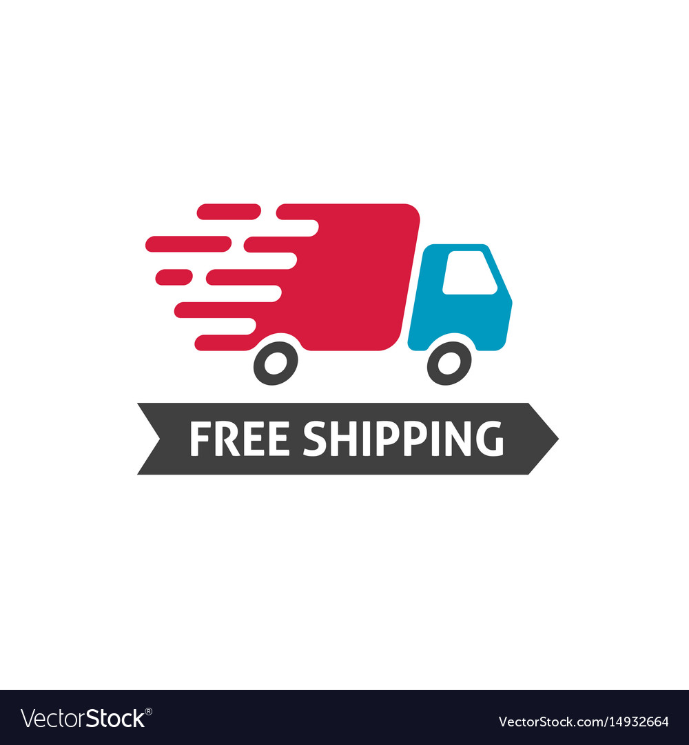 Free shipping icon truck moving fast and.