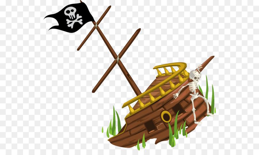 Pirate Ship Cartoon png download.