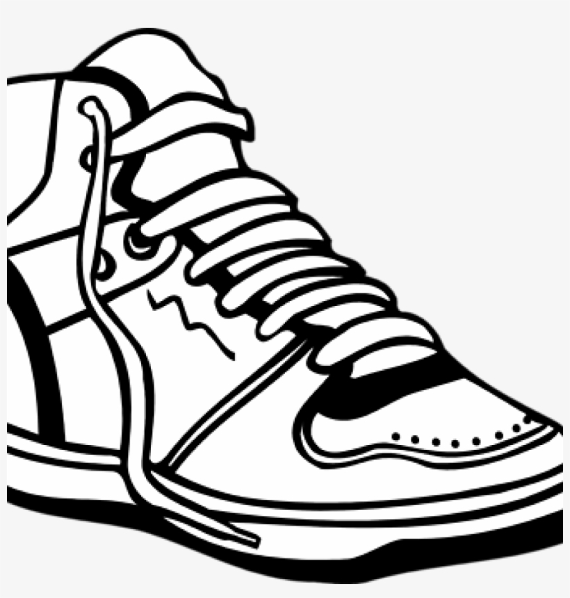 Tennis Shoe Clipart Sneaker Shoes Black And White Free.