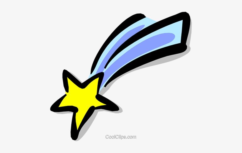 Shooting Star Royalty Free Vector Clip Art Illustration.
