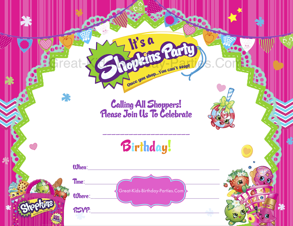 Inventive image intended for shopkins invitations free printable