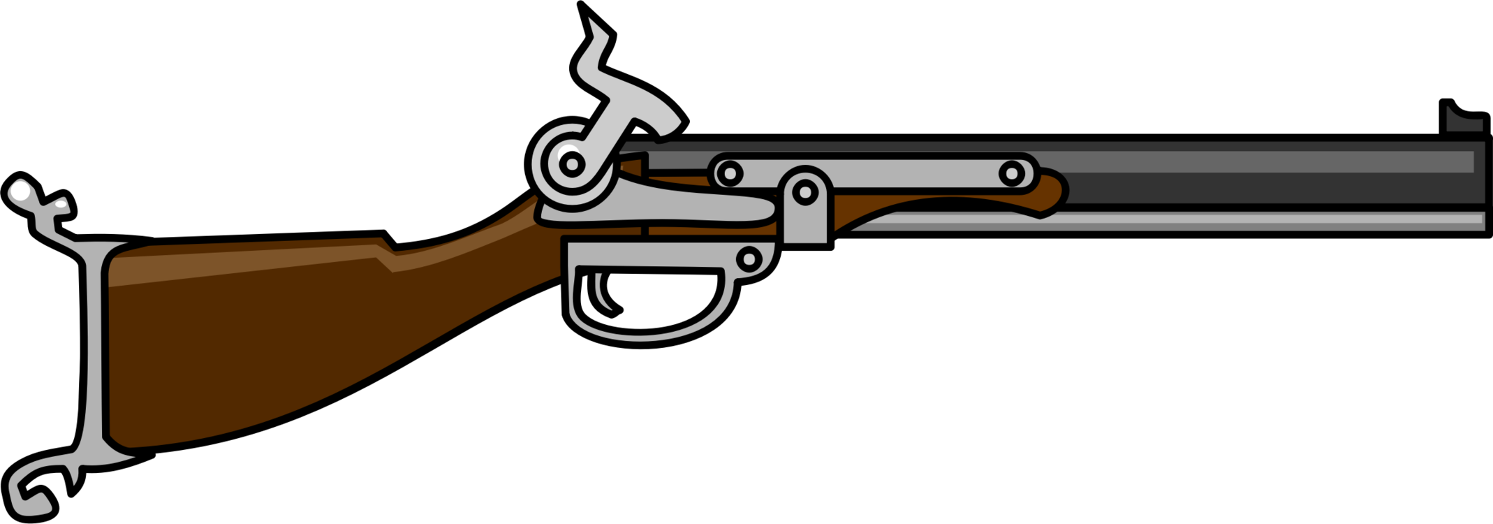 Gun Barrel,Shotgun,Ranged Weapon Vector Clipart.