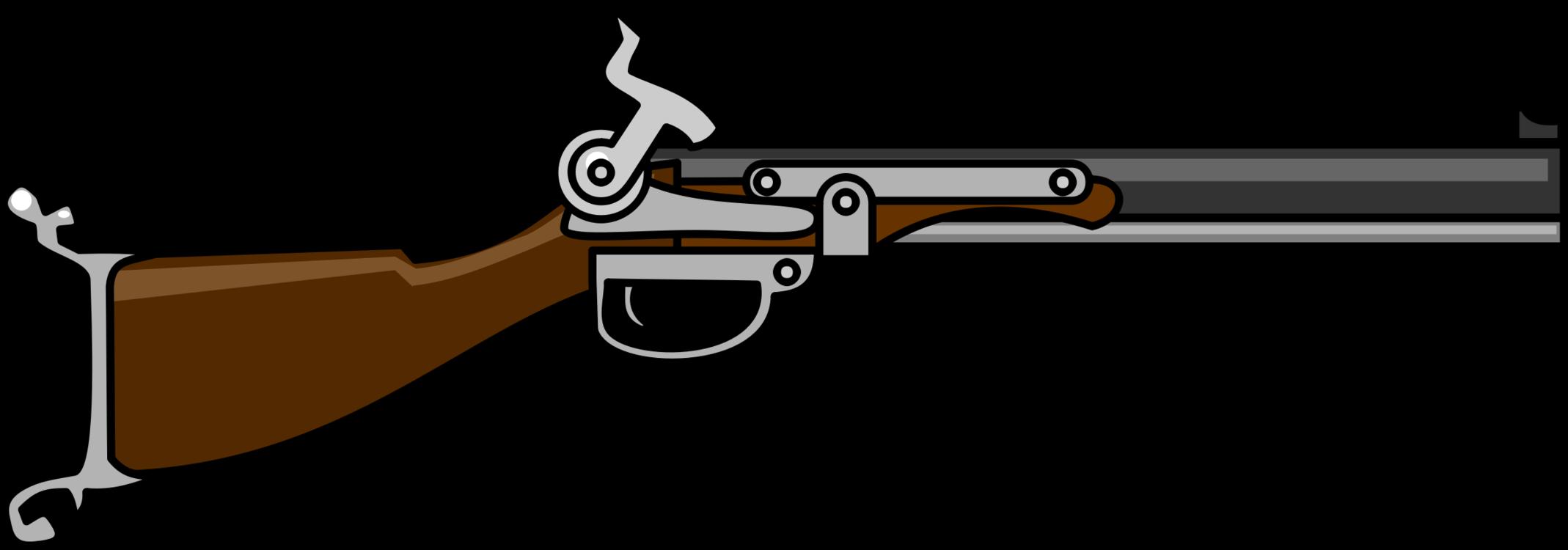 Gun Barrel,Shotgun,Ranged Weapon Vector Clipart.