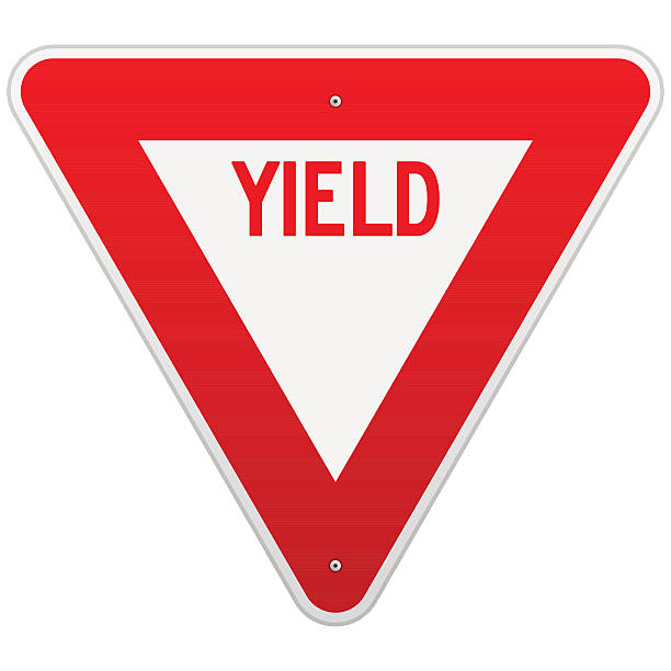 Best Yield Sign Illustrations, Royalty.