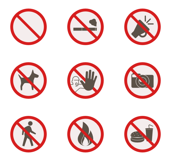 Warning sign Icons.