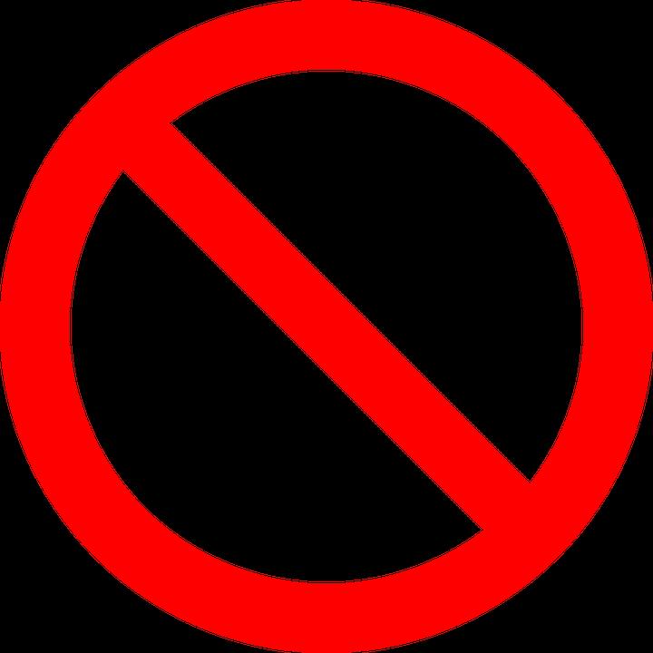 No Symbol Prohibition Sign.