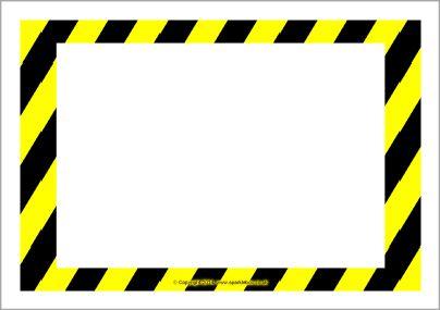 Editable warning / danger sign templates (SB10387.
