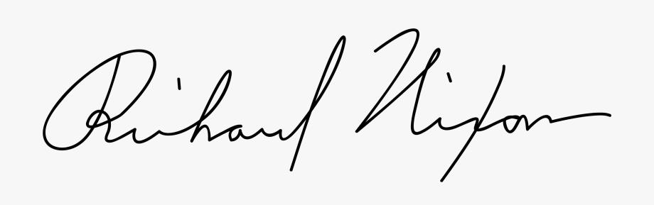 Clipart Hand Signature.