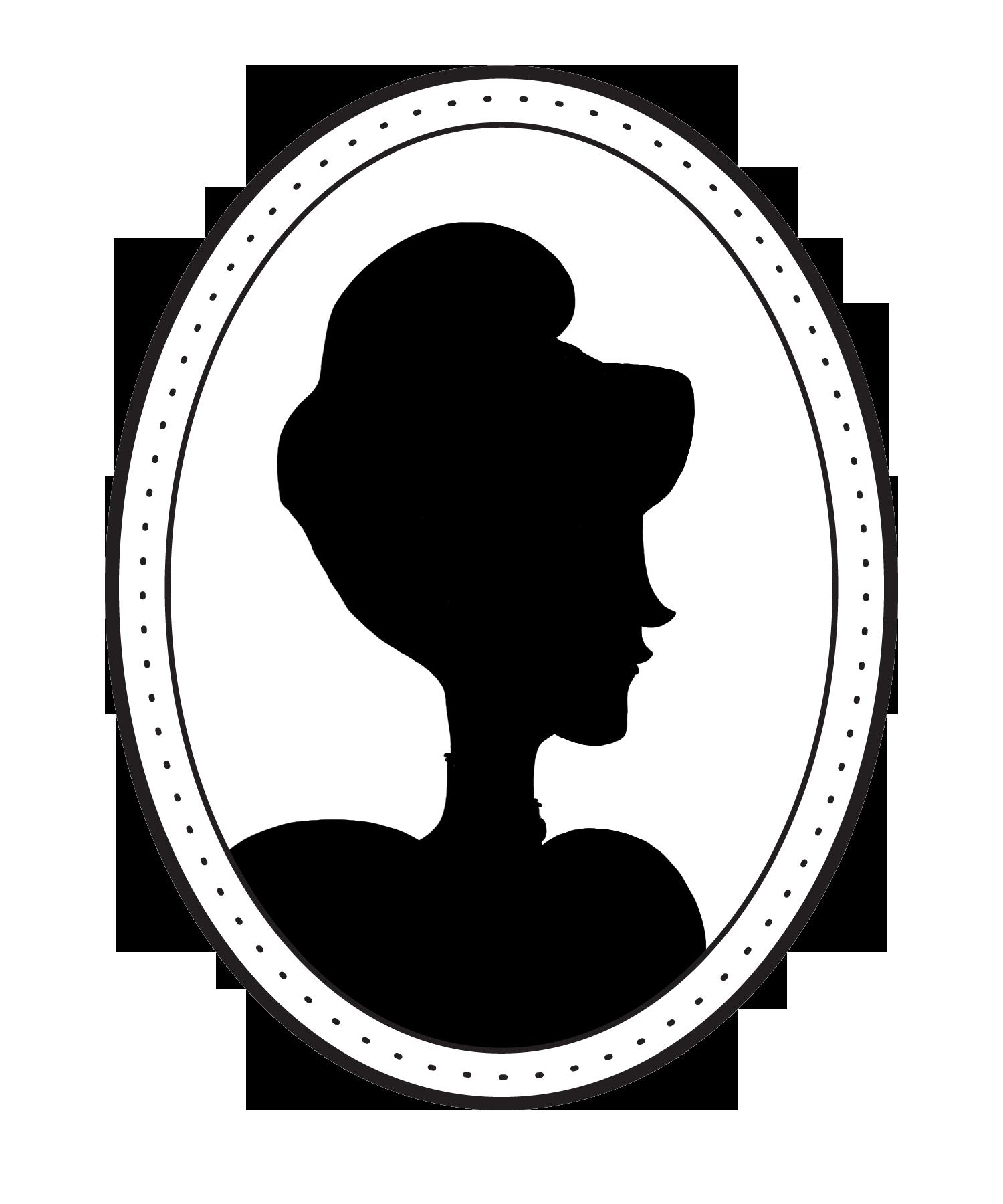 Silhouette Victorian era Cameo.