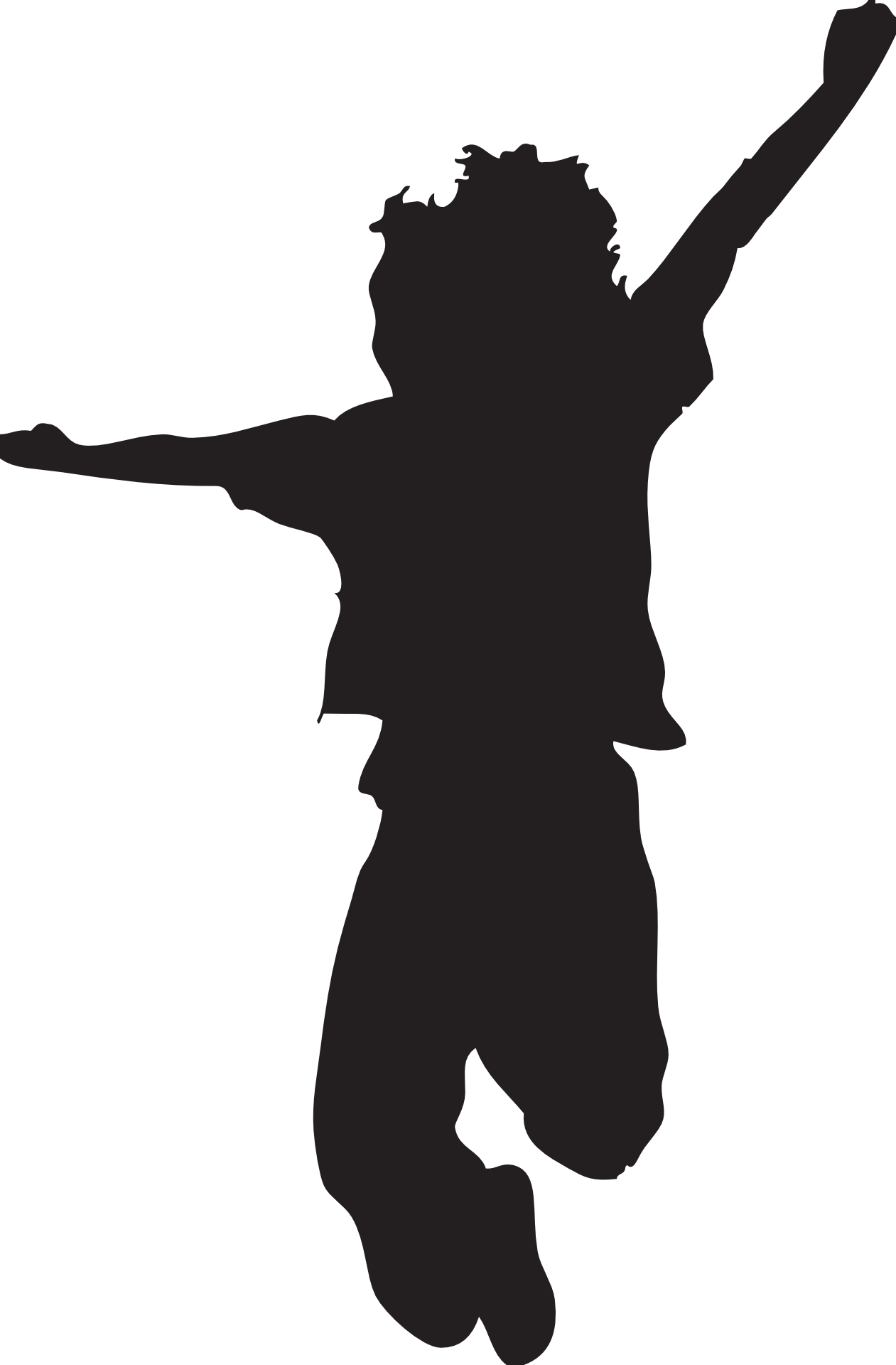 Kids Silhouette Clipart.