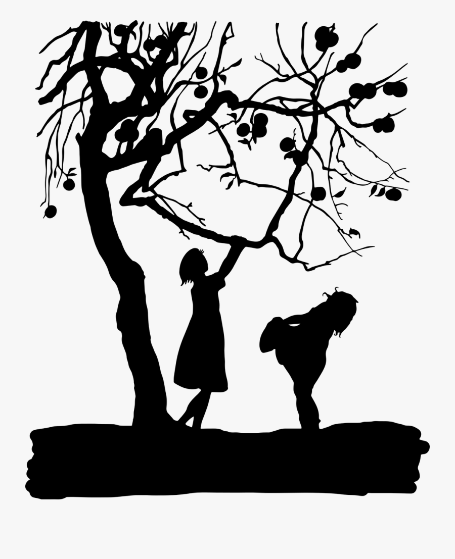 Vintage Kids Children Silhouette Png Image.