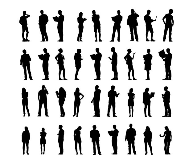 Silhouettes vectors, +63,000 free files in .AI, .EPS format.