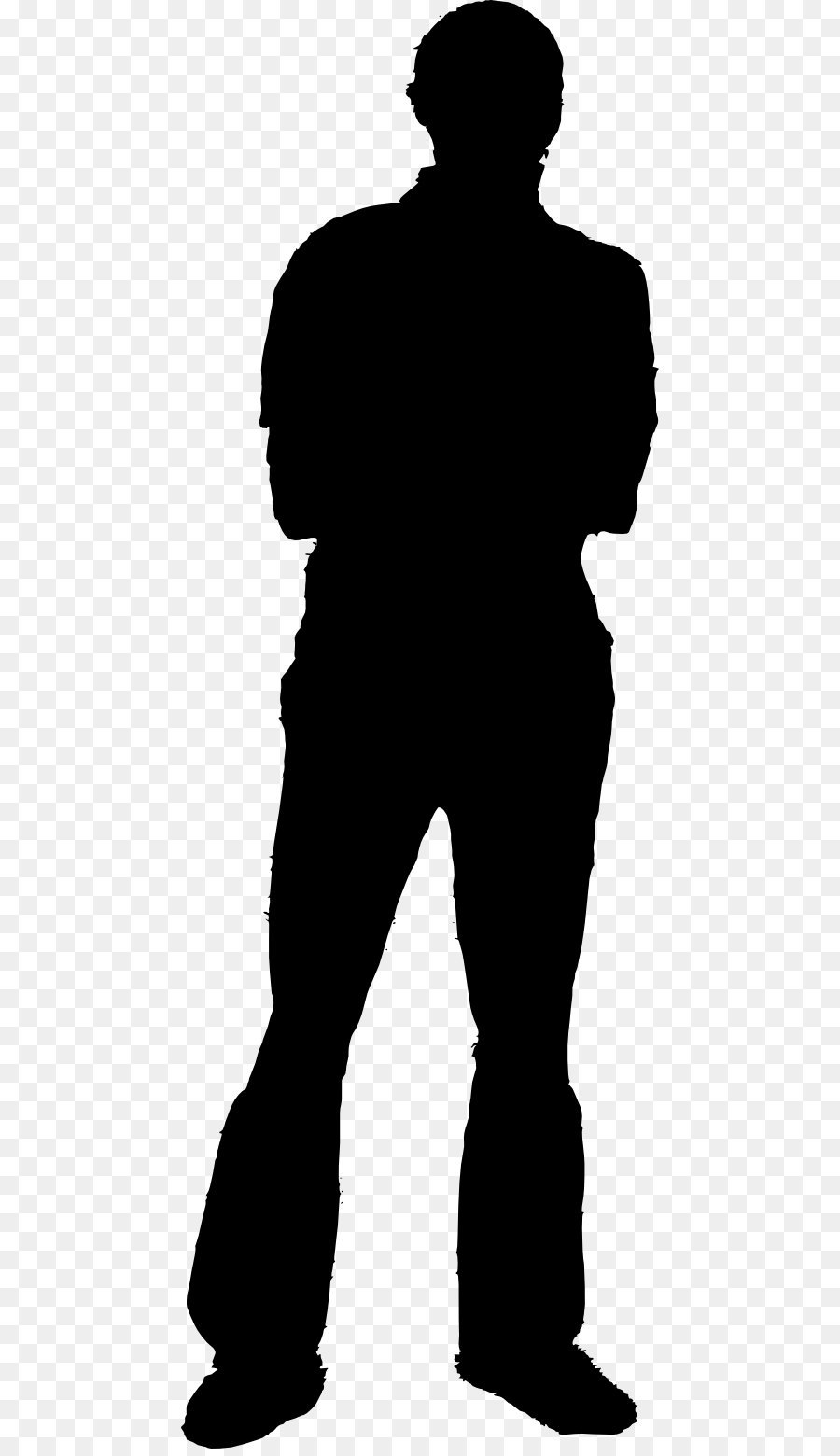Silhouette Standing png download.