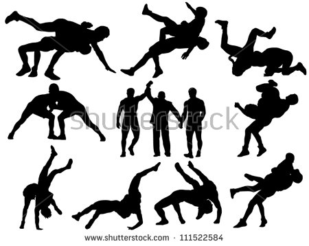 Wrestling Stock Images, Royalty.