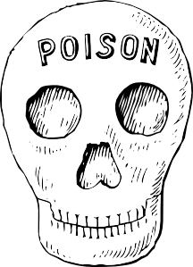 Poison Skull clip art Free Vector / 4Vector.