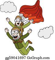 Skydiving Clip Art.