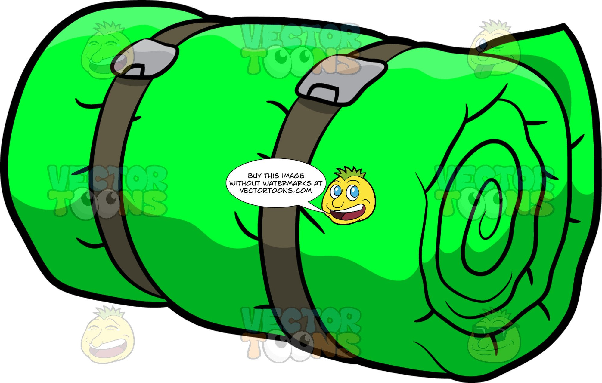 sleeping bag clipart.