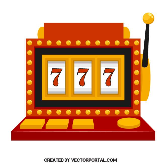 Slot machine vector image.