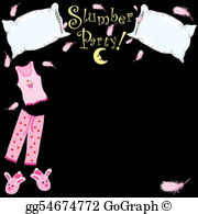 Slumber Party Clip Art.