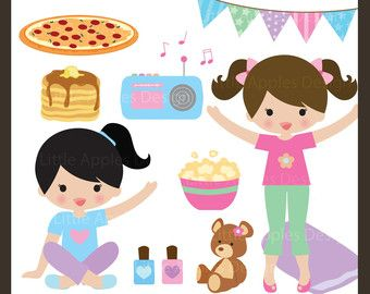 free pj party clip art.