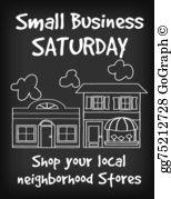 Small Business Saturday Clip Art.