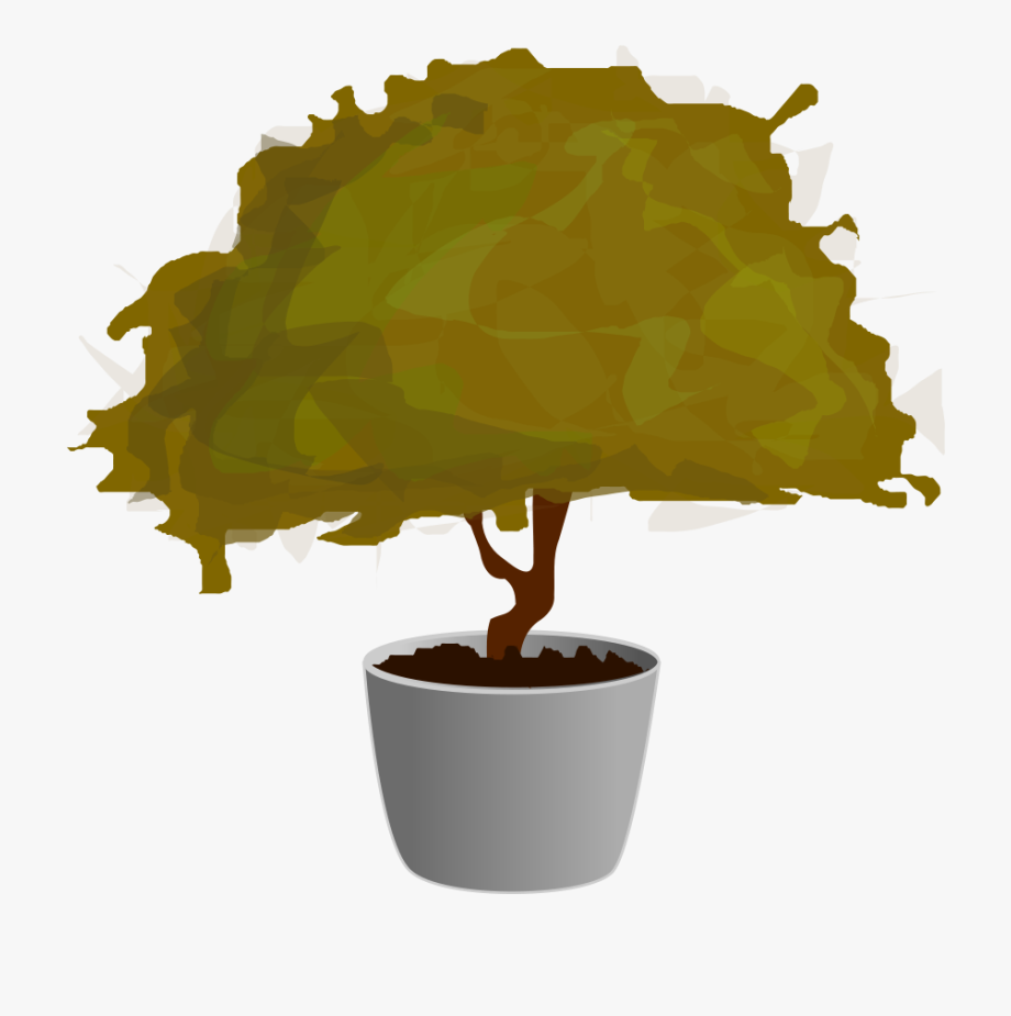Plant In Pot Small Clipart 300pixel Size, Free Design.