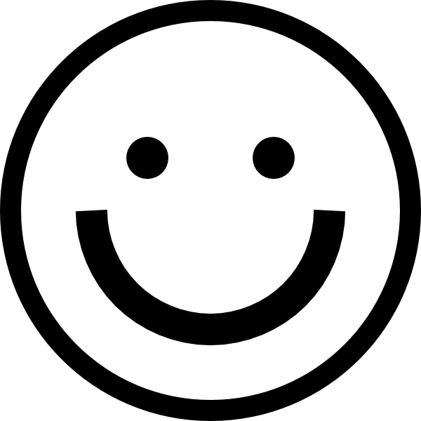 Best Black And White Smiley Face #10719.
