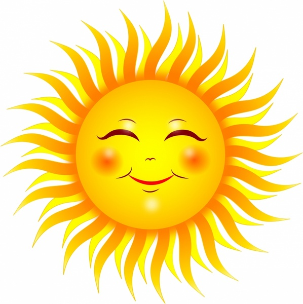 Smiling sun Free vector in Adobe Illustrator ai ( .AI.