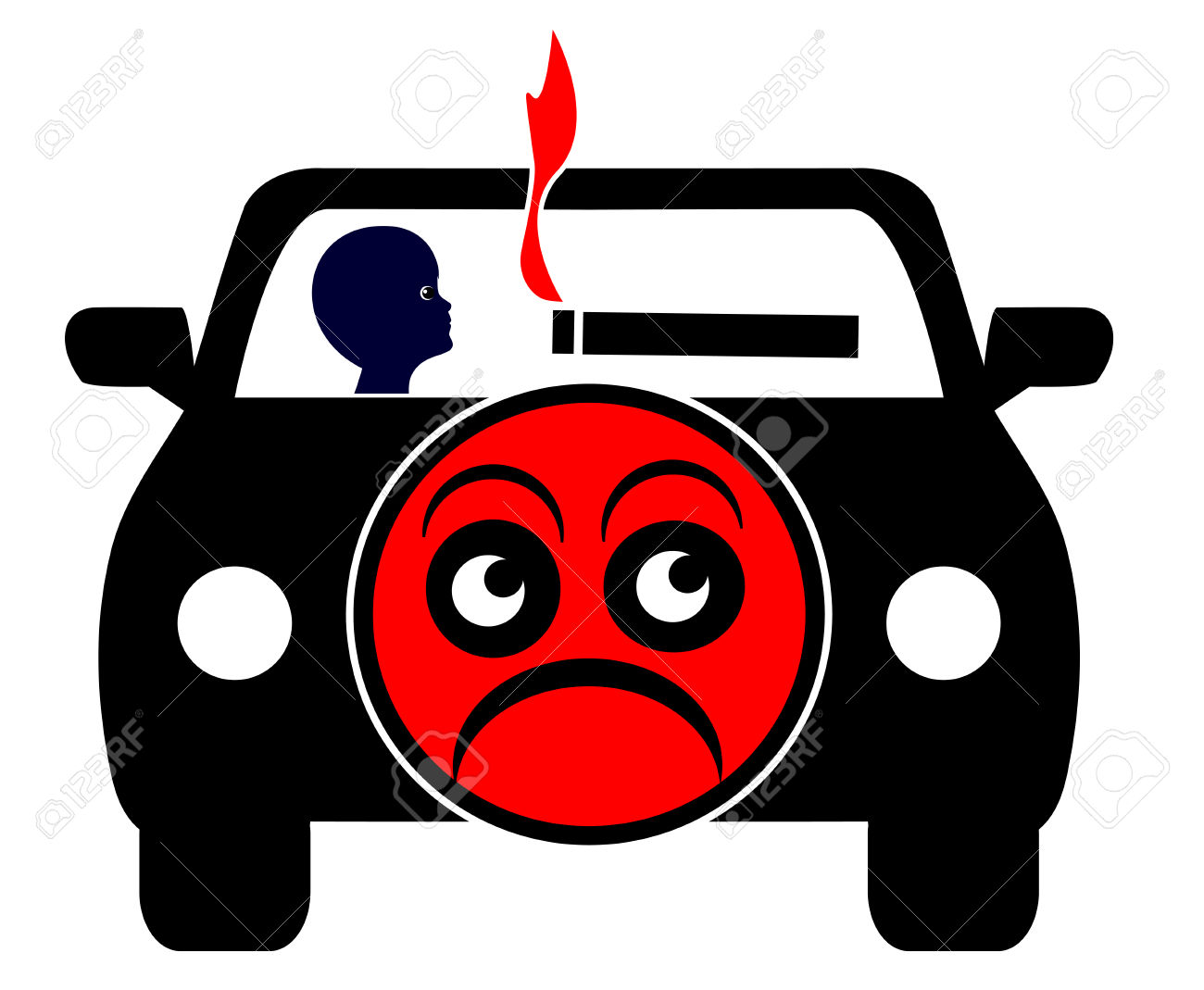 2,259 Car Smoke Stock Vector Illustration And Royalty Free Car.