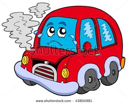 Smoking Car Clipart.