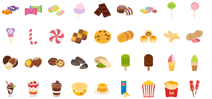Best Vector Snacks Clipart.