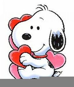Animated Snoopy Valentine Clipart.