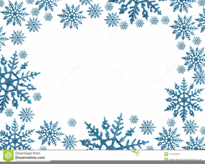 Free Clipart Snowflakes Borders.