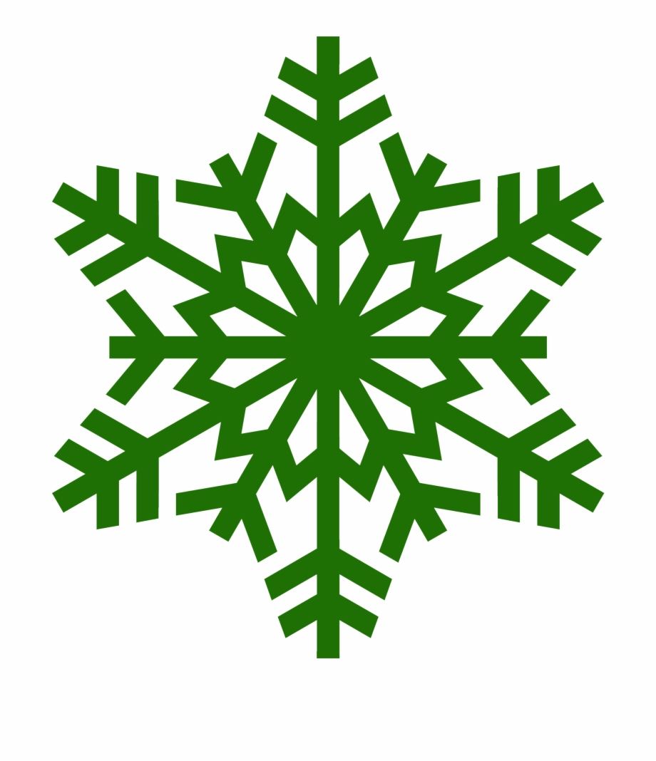 Transparent Background Snowflake Silhouette Clipart.