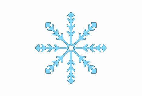 Printable Snowflake Template.