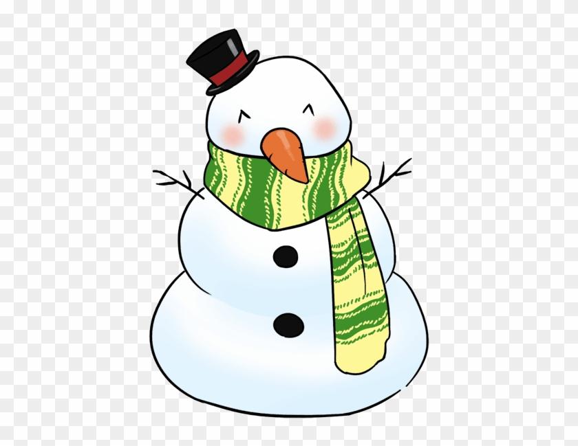 Free Cute Snowman Chibi Clip Art.